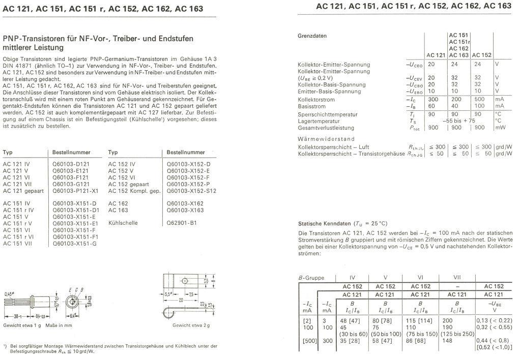 Transistor PNP AC163