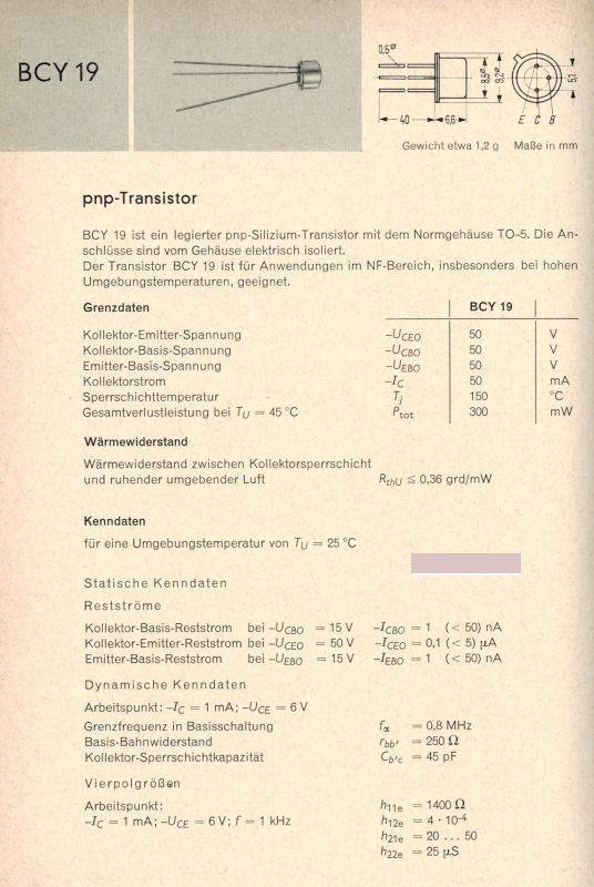 BC256 Transistor Silizium PNP TO92 GEHÄUSE