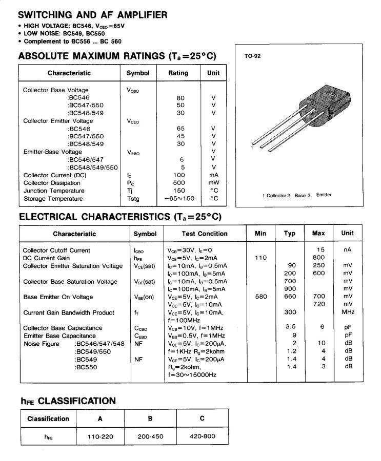 2SC1842 Japan-Transistor npn 35V 100mA 250mW
