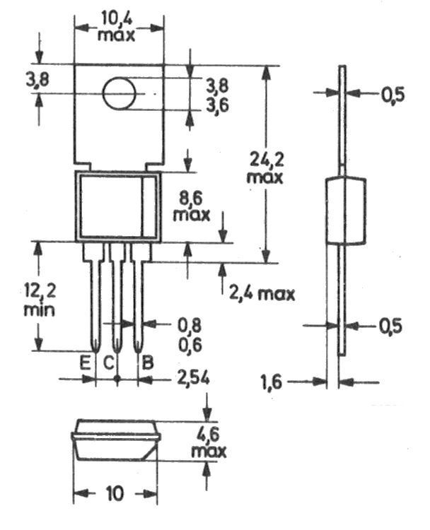 Bf858 PHILIPS transistor to202