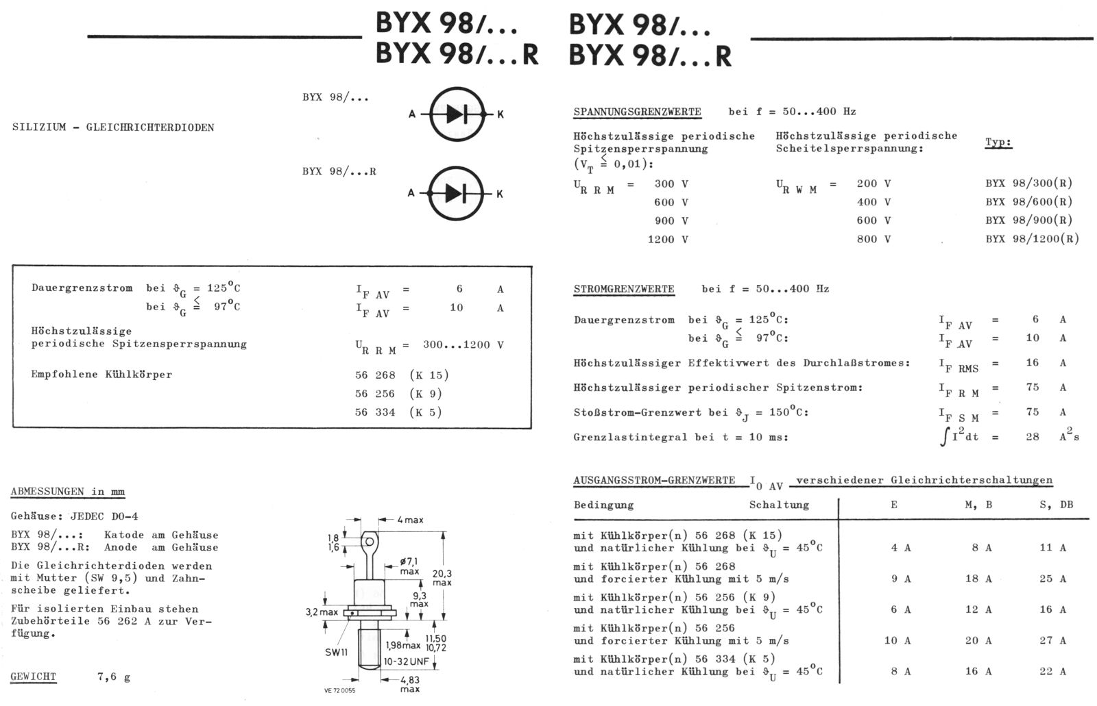 BYX98-300                            Silicon Rectifier