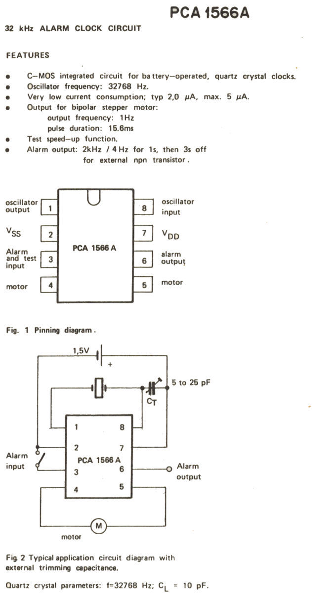 IC PCA1566A specification