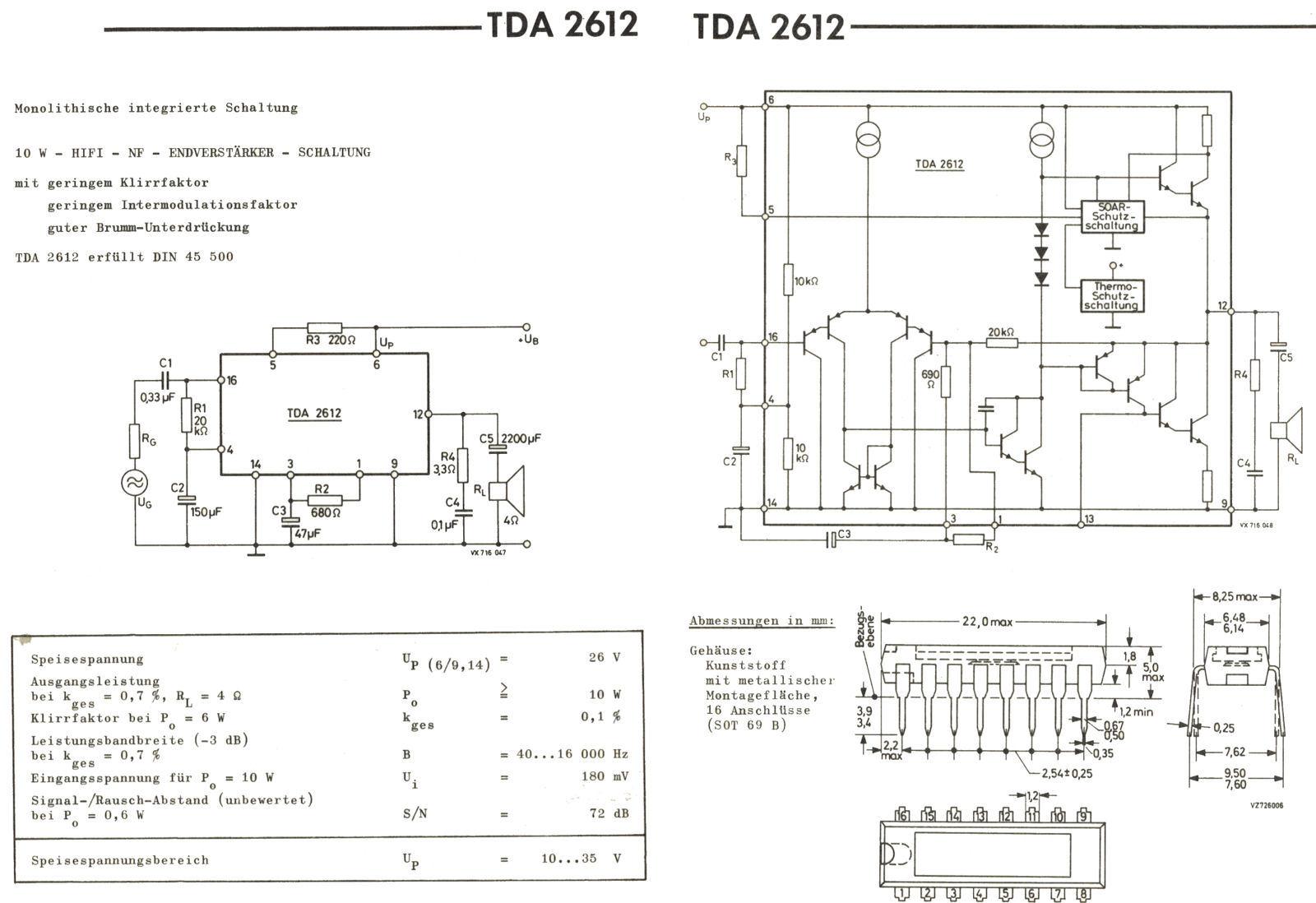ic tda2612 specificationadvanced information for tda2612